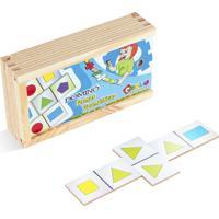 Jogo Educativo Carlu Brinquedos Domino Formas Branco