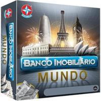 Jogo Banco Imobiliário Mundo Tabuleiro Estrela - Unissex-Preto