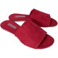 Rasteirinha Feminina Flat Lançamento Sapatolatra Vermelho