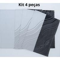 Kit De 4 Pc. Jogo Americano Guiness Jaquarde 100% Algodão 35X47 Cm