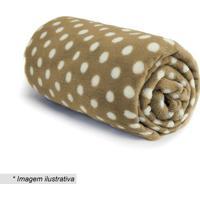 Cobertor Baby Poã¡- Marrom Claro & Branco- 90X110Cm