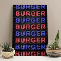 Placa Decorativa - Burguer