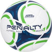 Bola De Futsal Penalty Matís 500 Ix - Branco/Verde