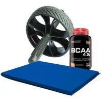 Kit Roda + Colchonete + Bcaa 100G Bodybuilders - Preto