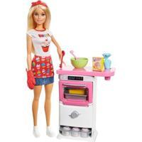 Boneca Barbie - Cozinhando E Criando - Chefe De Bolinhos - Mattel