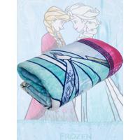 Cobertor Solteiro Lepper Frozen Dupla Face Azul 1,55 X 2,20 - Azul - Menina - Dafiti
