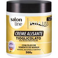 Creme Alisante Salon Line - Manga Médio Pote - 500Gr - Unissex-Incolor