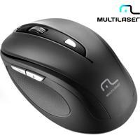 Mouse Óptico Sem Fio Multilaser Comfort Com 6 Botões, Função Multimídia, Textura Emborrachada, Receptor Nano Usb, Resolução Ajustavel E Preto - Mo237