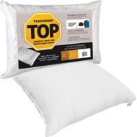 Travesseiro Fibrasca Top Suporte Firme Fronhas 50Cm X 70Cm Branco