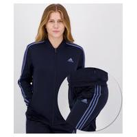 Agasalho Adidas 3 Stripes Feminino Marinho