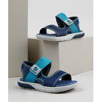 Sandália Papete Infantil Molekinho Com Velcro Azul Marinho