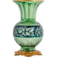 Vaso De Cristal E Bronze Iv - Linha Light Green