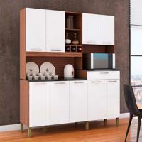 Cozinha Compacta Merlot Prime 9 Pt 1 Gv Marrom E Branco
