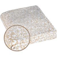 Manta Fleece 3D Casal Estampada Harmonie 2,10 M X 2,30 M Com 1 Peça - Produto Importado Lepper Bege