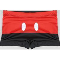 Sunga Boxer Infantil Mickey Mouse Preta