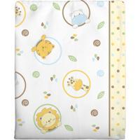 Cobertor Incomfral Ursinho Para Bebê 90Cm X 1.10M Branco