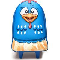 Mochila Max Toy Galinha Pintadinha Pré Escolar Pequeno Azul