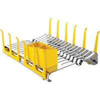 Escorredor De Louça Tramontina Em Aço Inox Com Secador De Copos E Porta Talheres Amarelo 61535580