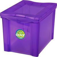 Caixa Organizadora Mã©Dia Color- Roxa- 30,7X30,5X42,5Ordene