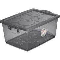 Caixa Organizadora Com Trava- Cinza Escuro- 23,5X53Xordene