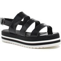 Sandália Plataforma Zariff Shoes Fivela Preto