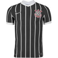 Camisa Do Corinthians Ii 2020 Nike - Jogador - Preto/Branco