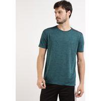 Camiseta Masculina Ace Esportiva Com Recorte Manga Curta Gola Careca Verde