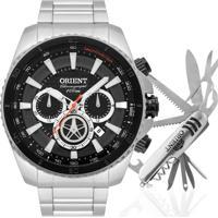 Kit Relógio Orient Masculino Com Canivete Mbssc168Kw97P1Sx