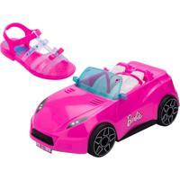 Barbie Carro Conversível Rosa Com Sandália 28 - Grendene