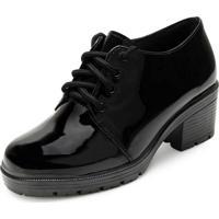 Sapato Tratorado Via Bag Vb20-562 Preto