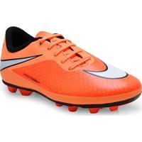Chuteira Masc Infantil Nike 599073-800 Hypervenom Phade Fg-Rlaranja Neon/Preto