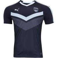 Camisa Girondins De Bordeaux I 18/19 Puma - Masculina - Azul Esc/Branco