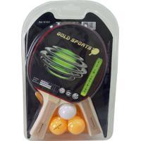 Kit P/Tênis De Mesa Training 2 Raquetes + 3 Bolas(Kt2X3D)