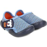 Sapato Infantil Klin Velcro New Confort - Masculino-Azul