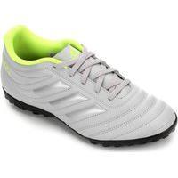 Chuteira Society Infantil Adidas Copa 20.4 Ef8359, Cor: Cinza Claro/Verde, Tamanho: 35