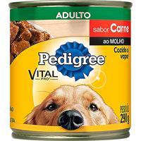 Ração Para Cães Pedigree Adultos Lata Sabor Carne Ao Molho Com 290G