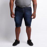 Bermuda Plus Size Masculino Escura Jeans