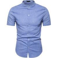 Camisa Xadrez Kingston - Azul