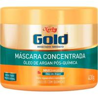 Máscara Niely Gold Óleo De Argan Pós Química De Hidratação Profunda 430G - Unissex-Incolor