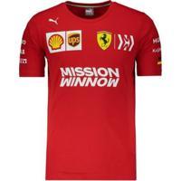 Camiseta Puma Scuderia Ferrari Sebastian Vettel Masculina - Masculino
