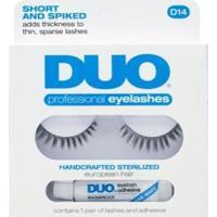 Cílios Postiços Eyelashes D14 Duo - Cílios Postiços Kit - Feminino-Incolor