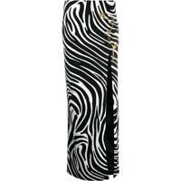 Versace Saia Com Animal Print - Preto