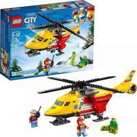 Lego City Helicóptero Ambulância 190 Peças Amarelo