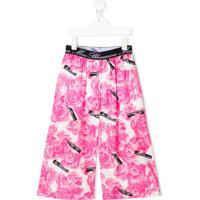 Miss Blumarine Floral-Print Trousers - Rosa