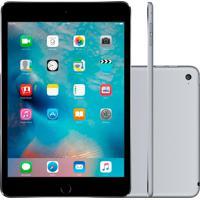 """Tablet Apple Ipad Mini 4 7.9"""" Wi-Fi + Cellular 128Gb Prata Mk8D2"""
