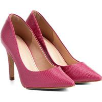377b019ad1 CEA  Scarpin Shoestock Salto Alto Serpente - Feminino-Pink