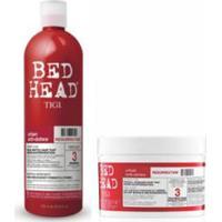 Kit Tigi Bed Head Urban Antidotes Resurrection 1 Shampoo 750Ml + 1 Máscara Reparação 200G - Unissex-Incolor