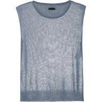 Osklen Blusa De Tricô Em Linho - Azul