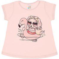 Blusa Rosê - Bebê Menina Meia Malha 43600-11 Blusa Rosa-Bebê Menina Meia Malha Ref:43600-11-G