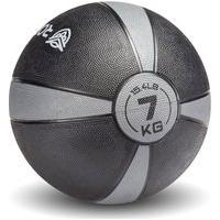 Medicine Ball Solid Bv 7Kg Cinza. Preto E Amarelo Roppe